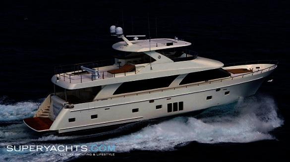 "... 25.84m (84' 9"" ft) motor yacht, custom built in 2010 by Ocean Alexander."