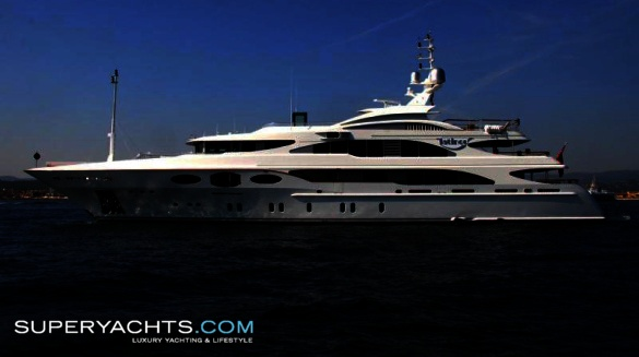 Luxury motor yacht Latinou, built in 2008 by Italian shipyard Benetti, ...