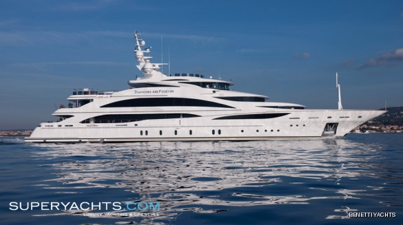 "Diamonds Are Forever is a 60.95m (199' 11"" ft) motor yacht, custom built in ..."