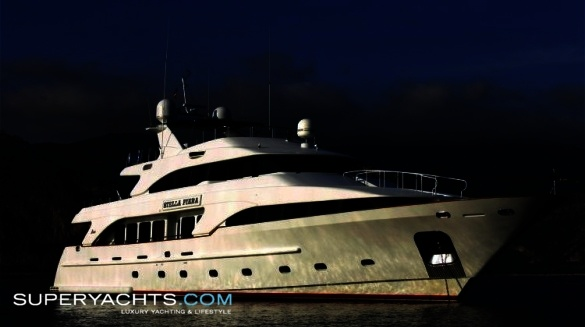 "Stella Fiera is a 35.05m (114' 11"" ft) Benetti Classic 35 motor yacht built ..."