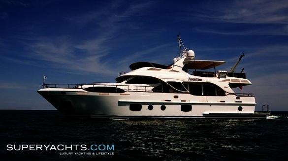 """Farfallina is a 25.82m (84' 8"""" ft) Benetti 85' motor yacht built in 2008 by ..."""