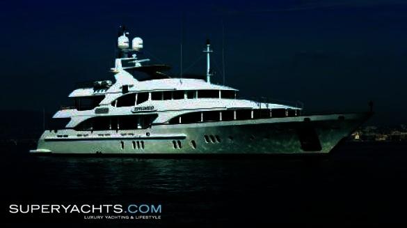 "Motor Yacht Idyllwild. Idyllwild is a 44.20m (145' 0"" ft) Vision 145' motor ..."