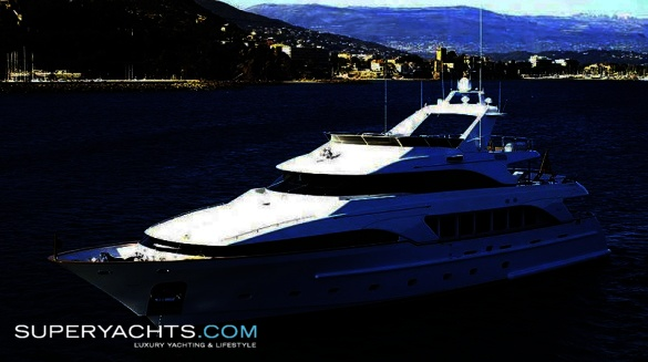 """Aladina (formerly My Way) is a 34.95m (114'7""""ft) Benetti Classic 35 motor ..."""
